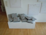 series: body map, lying and series: member pillows