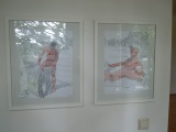 series: men at home (grafit and watercolor on paper)